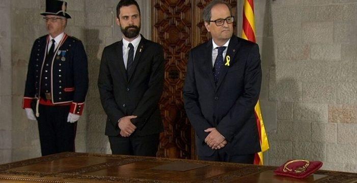 """Torra aplaza la toma de posesión del Govern y lamenta el """"bloqueo institucional"""" del Gobierno central"""
