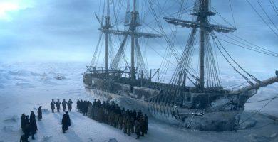 Uno de los barcos de la expedición, en la serie 'El Terror'. / EP