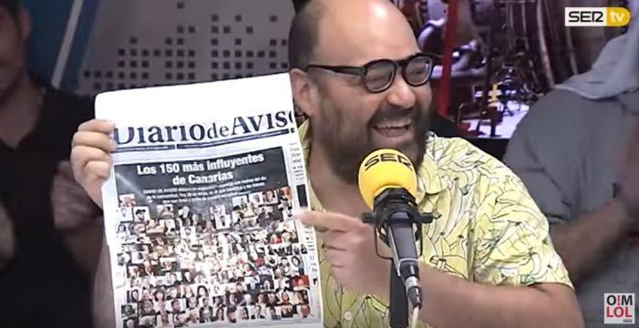 """Ignatius Farray """"se viene arriba"""" con la portada del DIARIO"""
