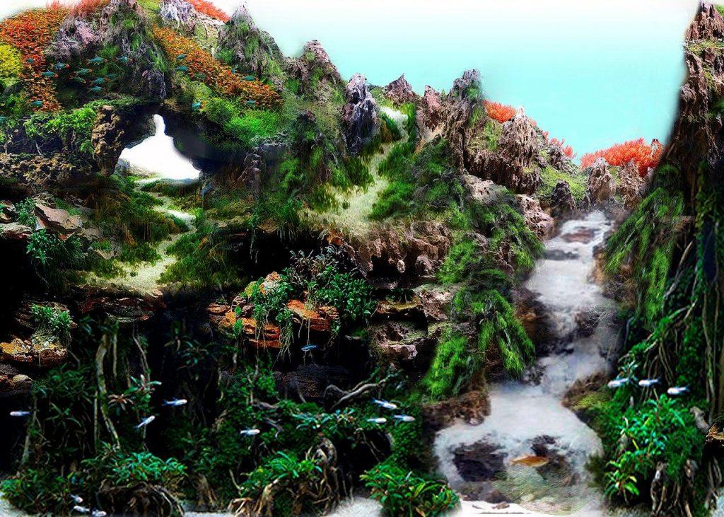 Inspirado en los paisajes forestales japoneses y en las cordilleras de las montañas asiáticas. | DA