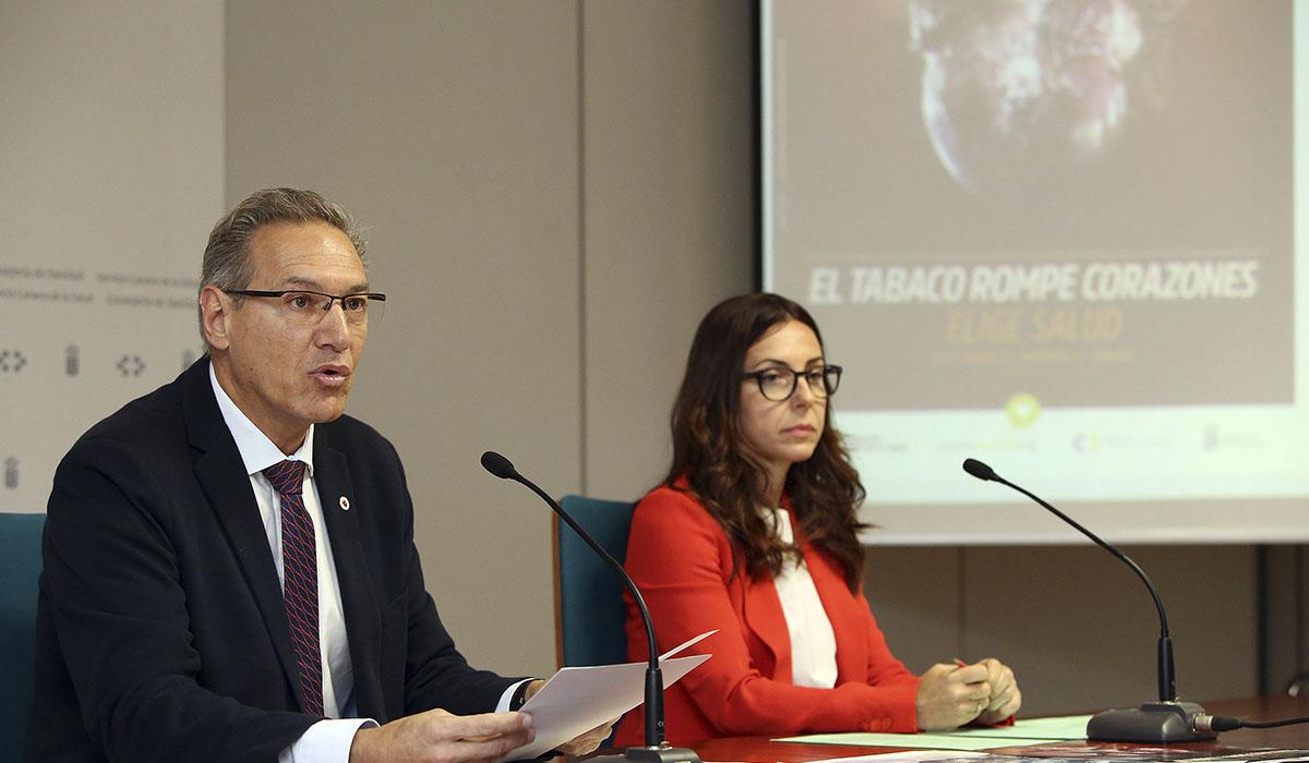 José Juan Alemán Sánchez y Alicia Hernández durante la rueda de prensa. DA