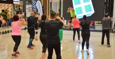 El centro comercial Nivaria Center acogió una nueva edición del evento 'Run&Fit Session'. | DA