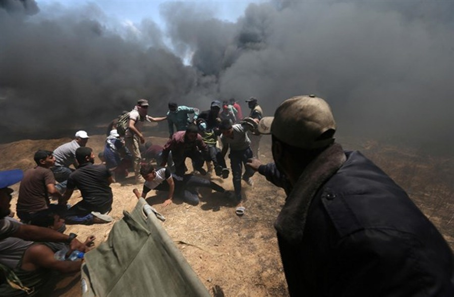 Protestas en la Franja de Gaza tras la apertura de la Embajada de EEUU en Jerusalén. / EP