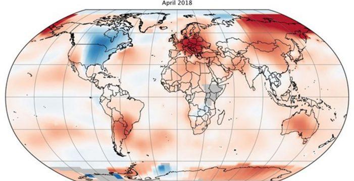 Tercer abril más cálido en 138 años de registros globales