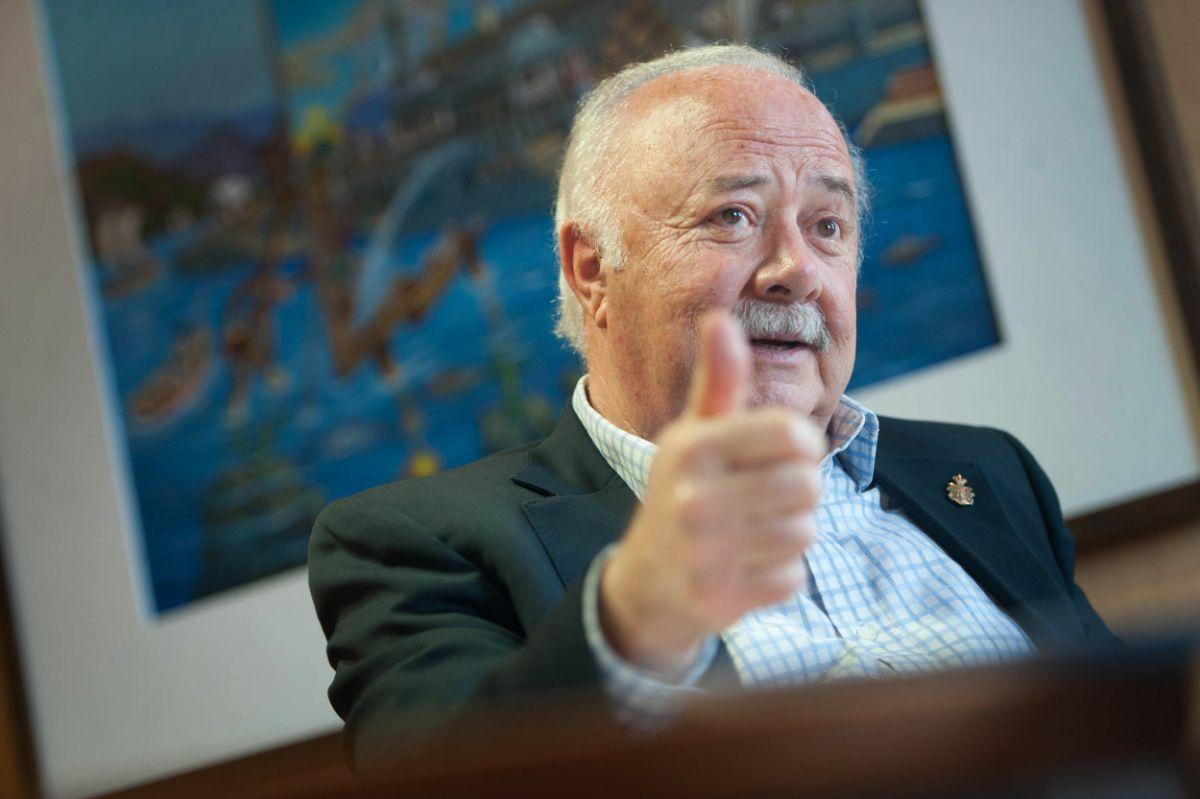 Ricardo Melchior, presidente de la Autoridad Portuaria de Santa Cruz de Tenerife. Fran Pallero