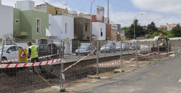 Indignación vecinal por la obra del Cabildo en el enlace de San Benito