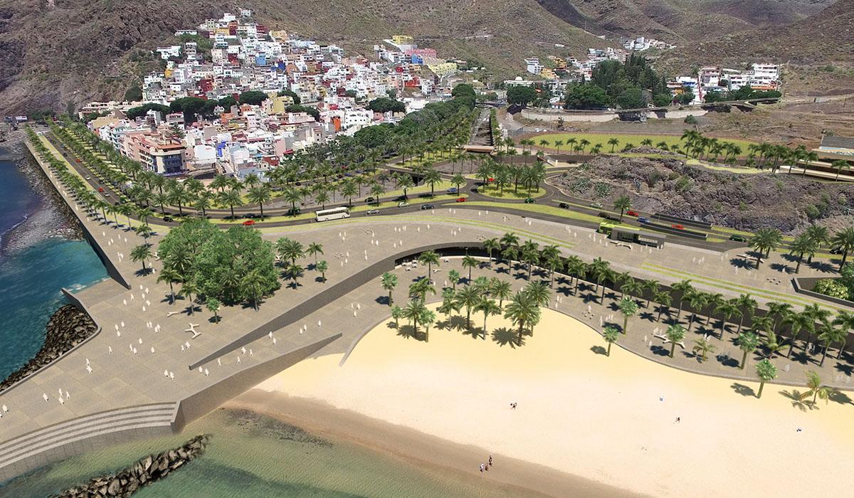 El proyecto para la futura playa de Las Teresitas fue presentado en el verano de 2016 y, casi dos años después, todo sigue prácticamente igual en lo que a infraestructuras se refiere. DA