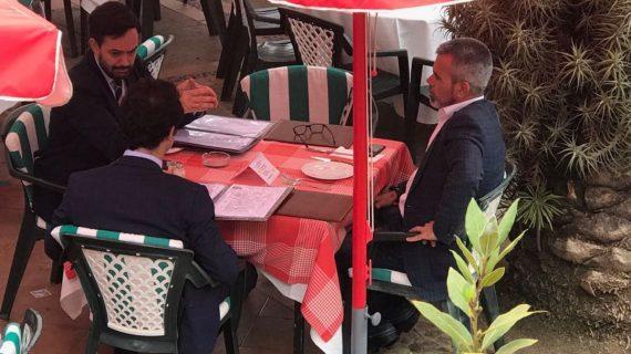 Reunión no tan secreta entre Lope Afonso (PP) y Juan Carlos Marrero (CC)