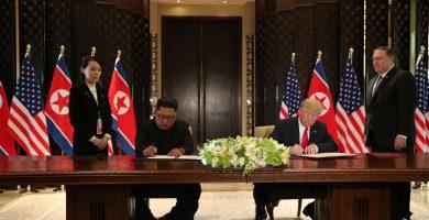 """Trump y Kim firman un """"amplio acuerdo"""" al final de su histórica reunión"""