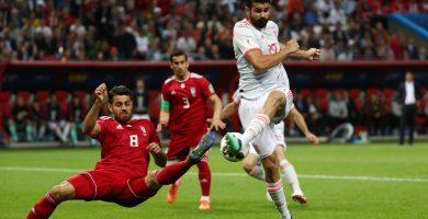 España derriba el muro iraní con un solitario gol de Costa