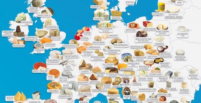 El mapa viral de los quesos europeos que no te representa