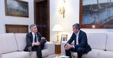 """Clavijo, tras su reunión con Marlaska: la llegada de migrantes """"requiere una respuesta solidaria de España y Europa"""""""
