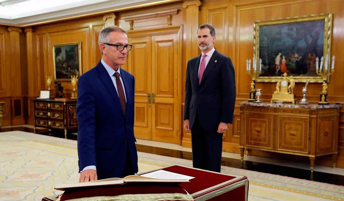José Guirao promete su cargo ante el Rey como nuevo ministro