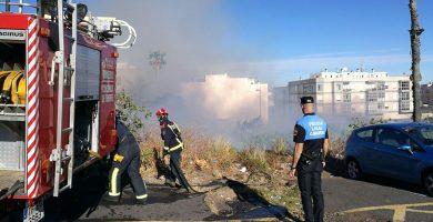 Incendio declarado en La Cuesta. / FOTO: Andrés Gutiérrez