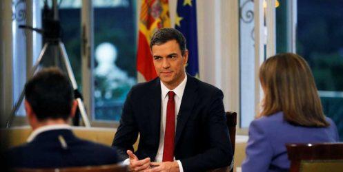 """Sánchez ve """"razonable"""" acercar a los presos soberanistas a Cataluña y descarta convocar elecciones"""