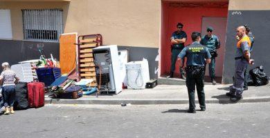 Imagen de archivo de un desalojo anterior, también efectuado en la localidad de San Isidro. | DA