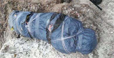 Cadáver de papel encontrado en Las Palmas. / TWITTER POLICÍA LAS PALMAS