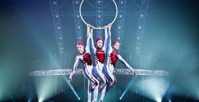 Imagen de un espectáculo del Circo del Sol
