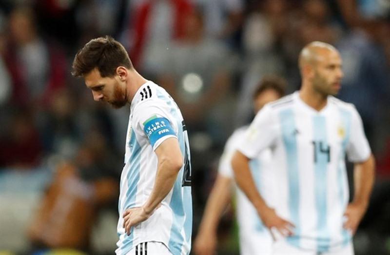 Messi, durante el partido contra Croacia. / EP