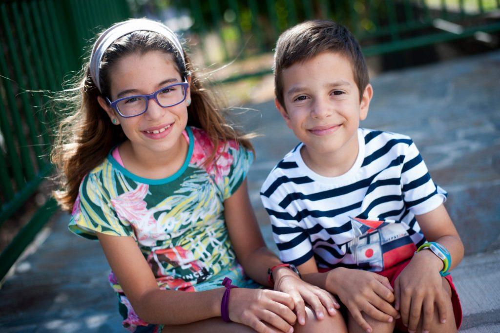 Lorena y Anatael Trujillo son hermanos y alumnos del colegio Las Dominicas, de Vistabella. Foto: Fran Pallero