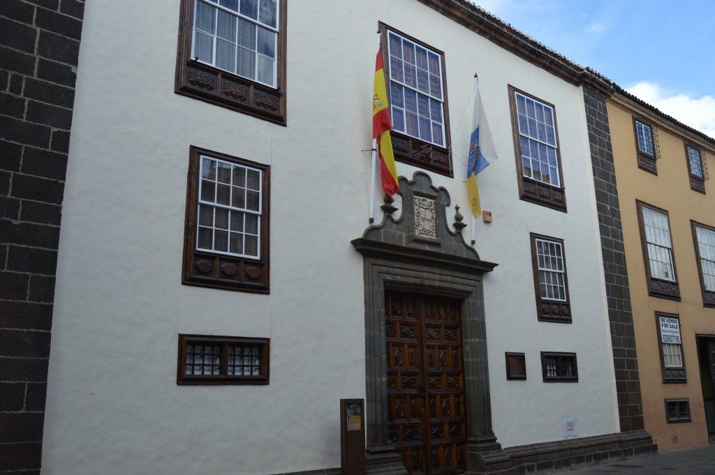Fachada de la Casa Montañés (La Laguna), sede principal del Consejo Consultivo de Canarias. DA