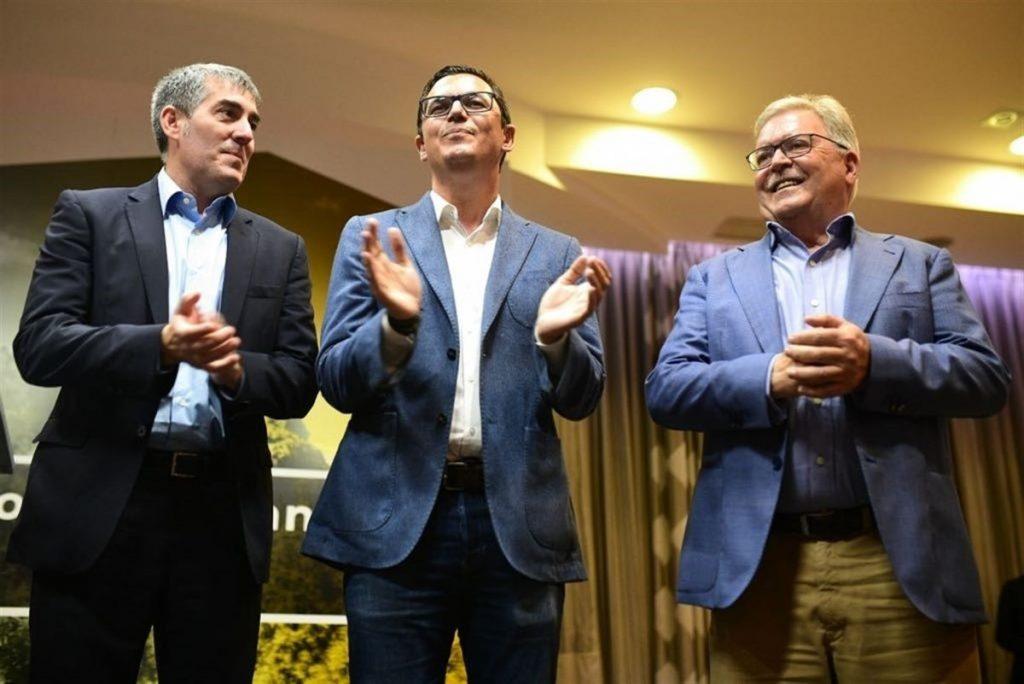 Fernando Clavijo, Pablo Rodríguez y José Miguel Bravo de Laguna. EP