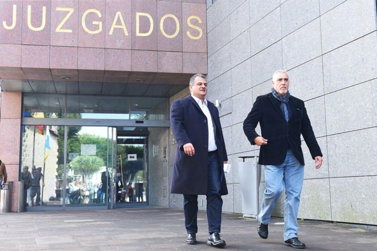 El alcalde de La Laguna, José Alberto Díaz, tras declarar como imputado por el caso Grúas. Fran Pallero