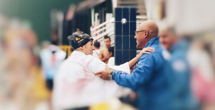 Michelle Alonso y su gran gesto en el Regional de natación de Gran Canaria