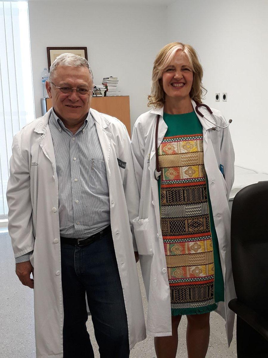 Los doctores Norberto Batista y Josefina Cruz, del Hospital Universitario de Canarias. DA