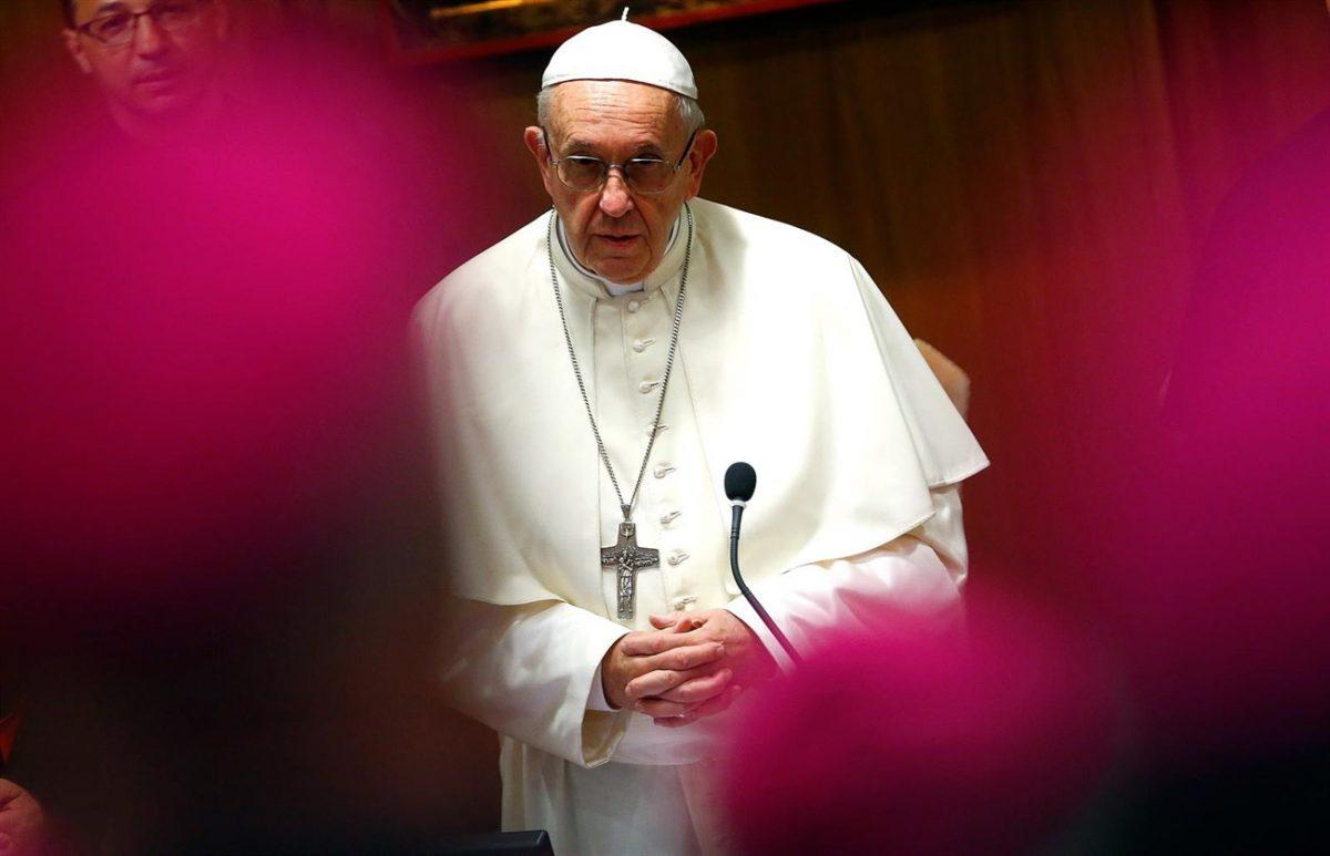 El Papa Francisco en una conferencia con obispos. | EP