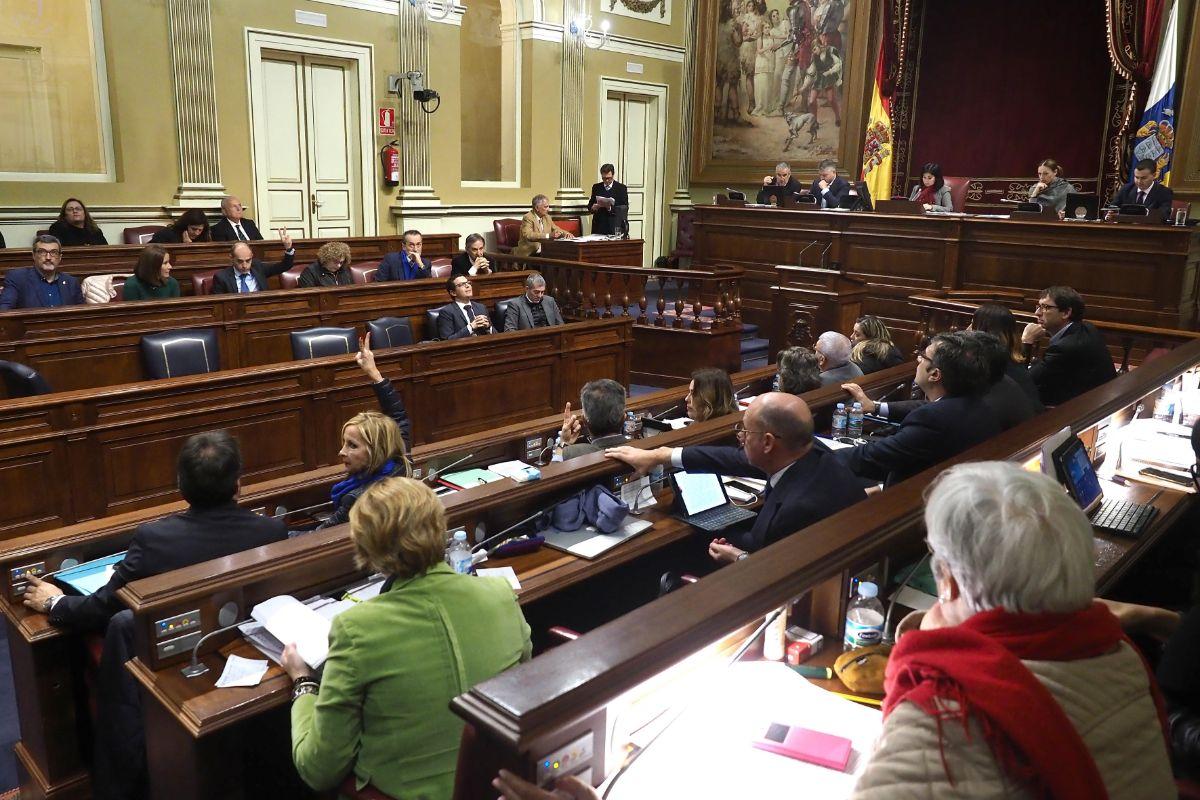 Sesión plenaria en el Parlamento de Canarias. Sergio Méndez