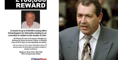 La familia de Palmer ofrece 100.000 libras a quien informe sobre su asesino