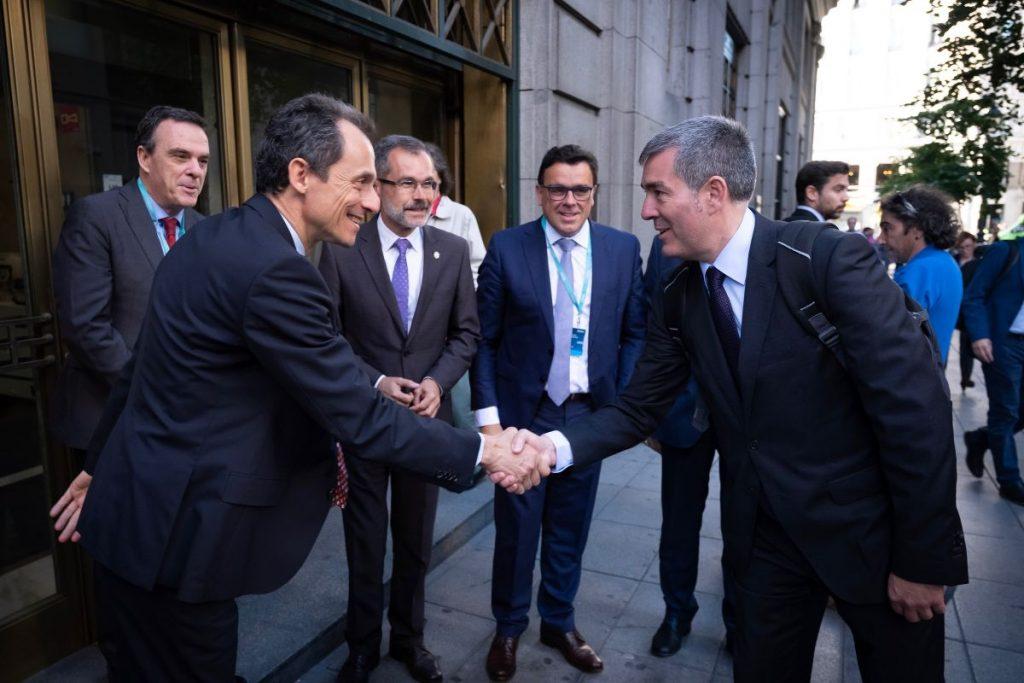 El ministro de Ciencia, Innovación y Universidades, Pedro Duque, acudió a la presentación en Madrid del proyecto 'Canarias Geo Innovation Program 2030'. | DA