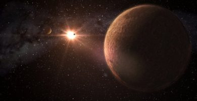 Sistema con tres planetas del tamaño de la Tierra
