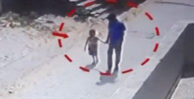 Testigos dijeron que lo vieron alejarse con la niña antes de ser violada y asesinada