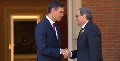 Sánchez rechaza el derecho de autodeterminación planteado por Torra y acuerdan reunir la Comisión bilateral