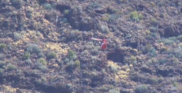 Un cazador, rescatado en helicóptero tras una caída en un barranco