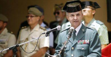 Juan Miguel Arribas, durante su toma de posesión como jefe de la Zona de la Guardia Civil de Canarias. Foto: EFE / Cristóbal García