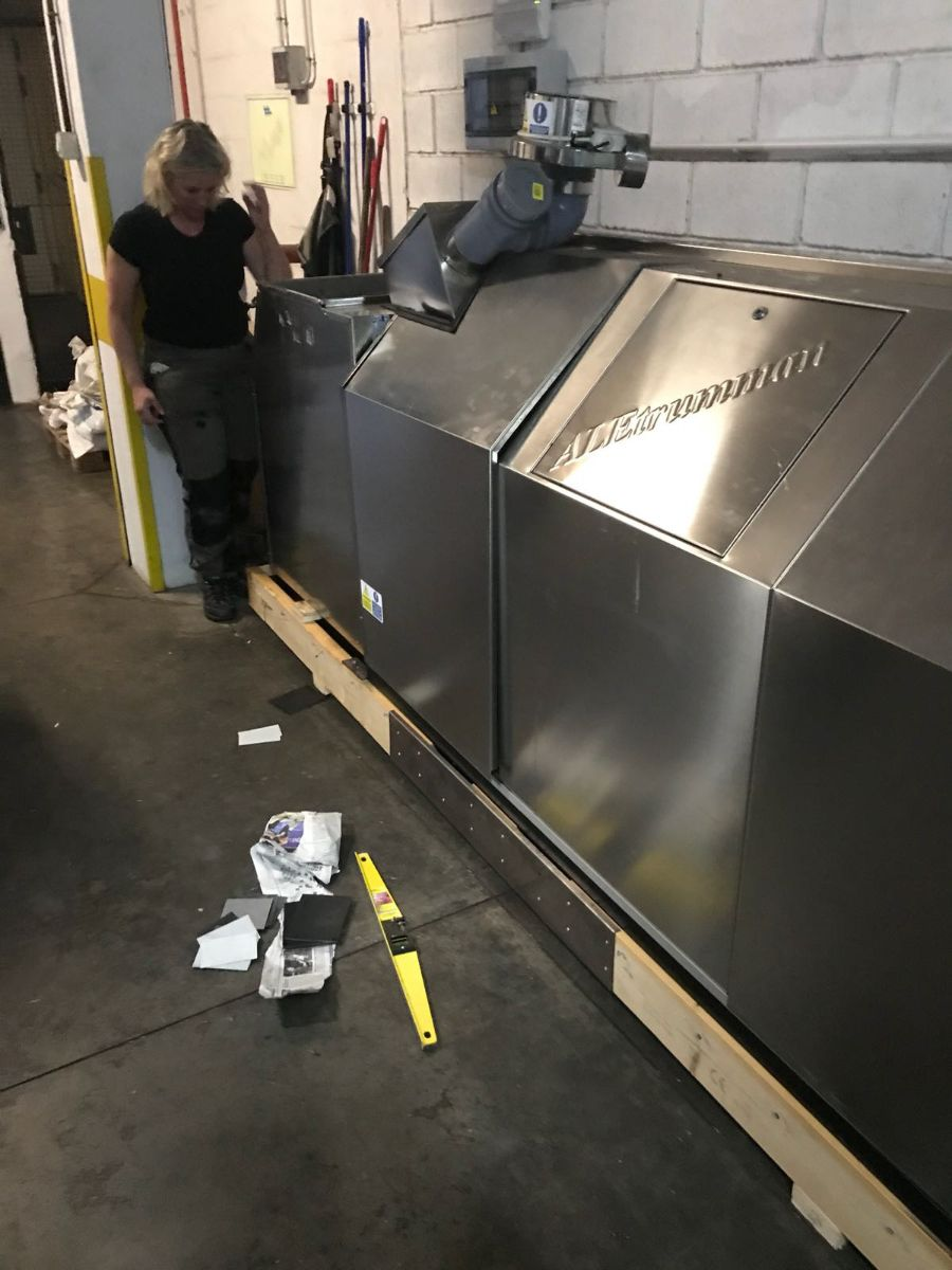 Máquina de compostaje en el hotel Tigaiga del Puerto de la Cruz. / DA