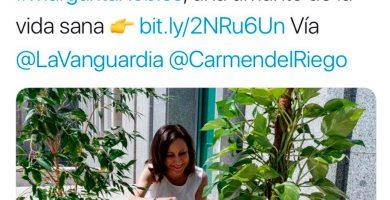 Defensa borra un tuit en el que promocionaba la vida sana de Margarita Robles