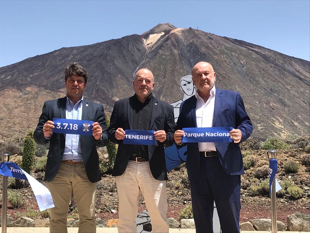 Concepción, en la presentación de la campaña de abonos del Tenerife. / DA