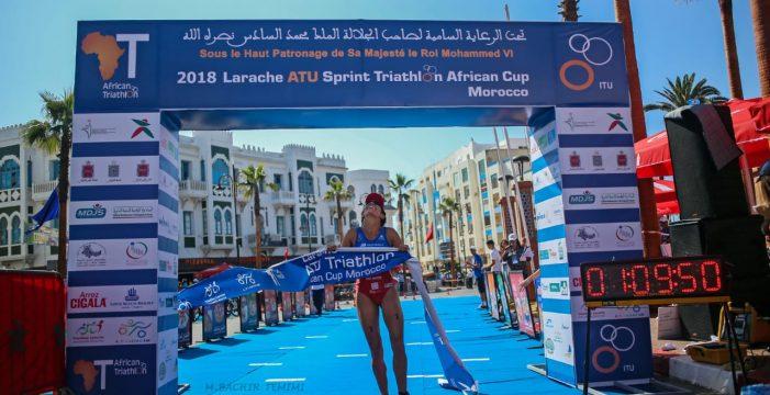 La canaria Delioma González gana en el Triatlón de Larache en Marruecos
