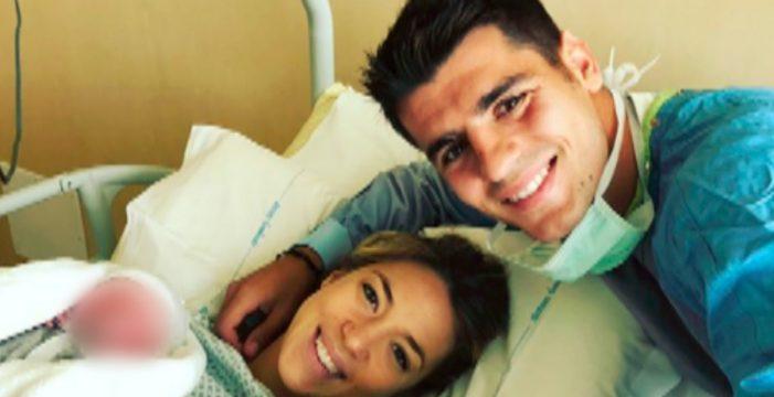 Alice Campello y Álvaro Morata dan la bienvenida a sus gemelos