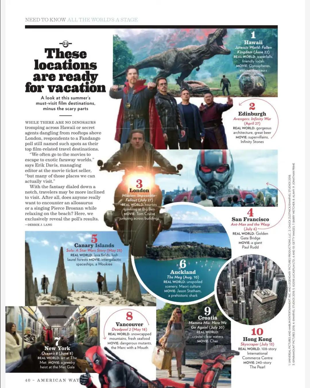 Reportaje de American Airlines sobre el cine en el mundo. / AA
