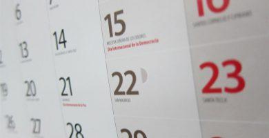 Quedan por definir en el calendario laboral los dos días de festividad de ámbito local. | EP