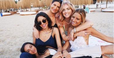 Chiara Ferragni celebra su despedida de soltera en Ibiza