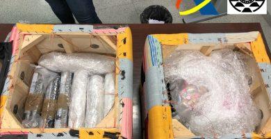 Contenido del paquete enviado por servicio de paquetería desde la Península a Tenerife. | DA