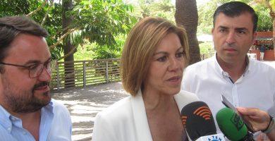 Cospedal, junto a Antona y Domínguez . | EP