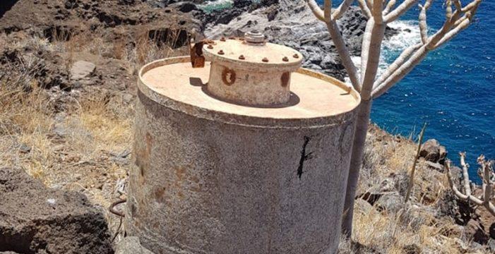 El artefacto hallado en Tijarafe no contiene carga explosiva