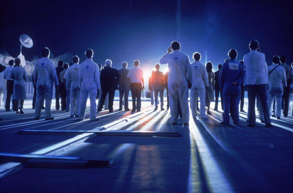 Fotograma del clásico de ciencia ficción de Steven Spielberg 'Encuentros en la Tercera Fase'.